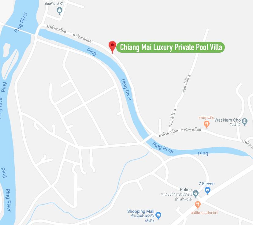 Chiang Mai Luxury Private Pool Villa | Map Location