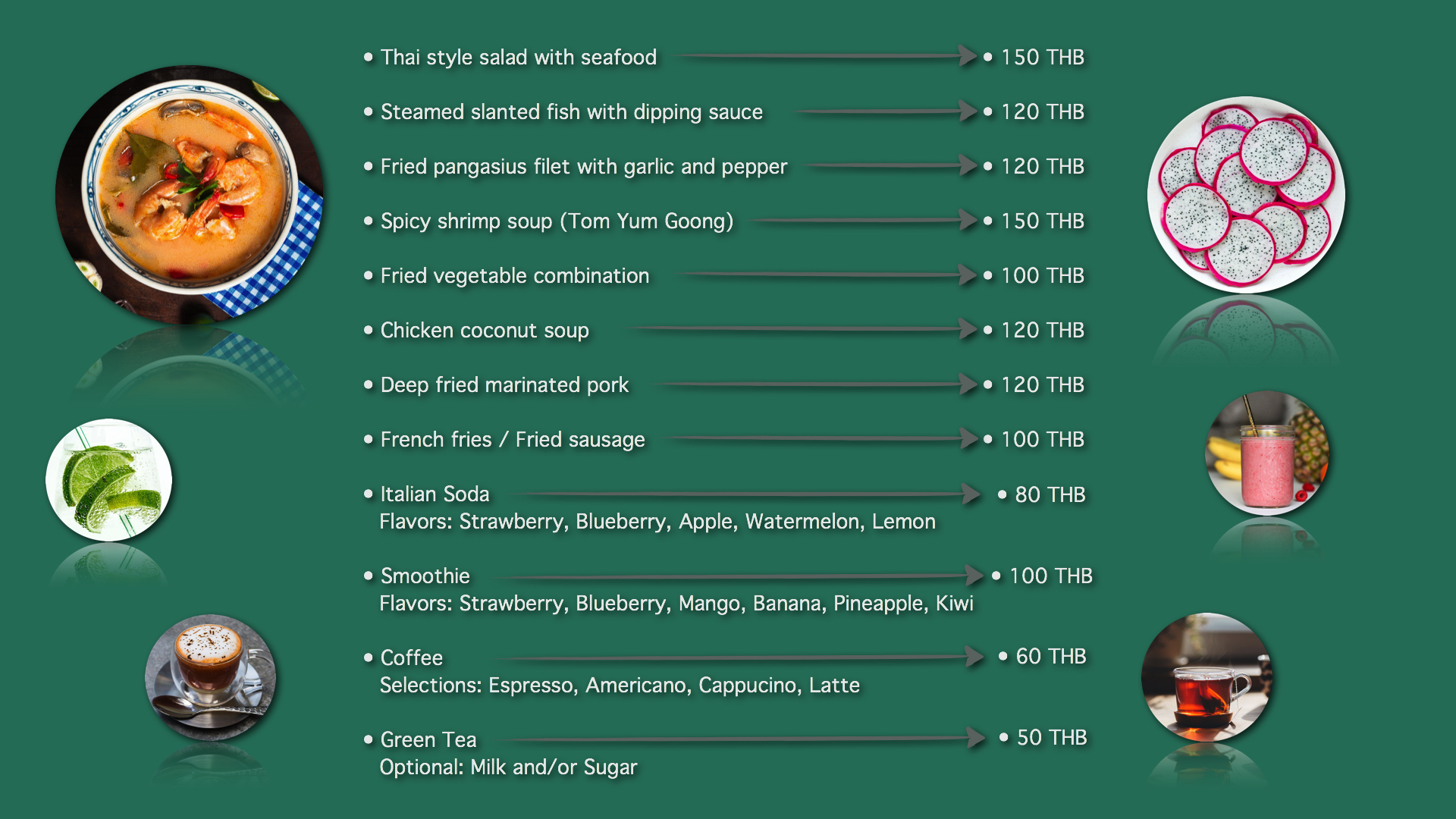 Chiang Mai Luxury Private Pool Villa | Food and Drinks MENU Page 3